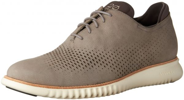 Cole Haan Men's 2.Zerogrand Laser Wing Oxford, Ironstone Nubuck/Ivory, 9  Medium US