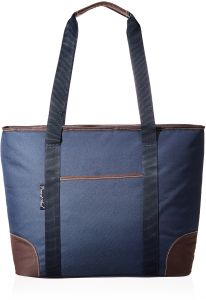 9ef11db20db1 Picnic at Ascot Extra Large Insulated Cooler Bag - 30 Can Tote - Navy Brown