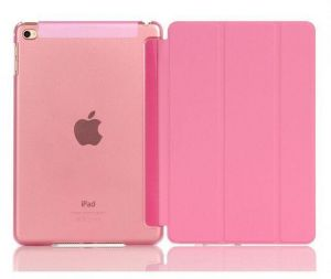 Silk Texture Horizontal Flip Leather Case with Three-Folding Holder for 2015 IPAD Pro9.7 ,Pink