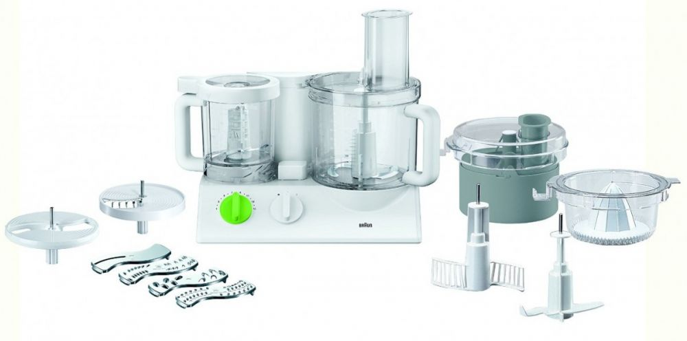 Braun Fx3030 Tribute Collection Food Processor, White, Stainless Steel Material