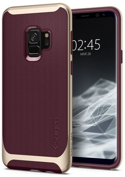 classic fit 27f43 48c71 Spigen Back Cover For Samsung Galaxy S9 - Burgundy