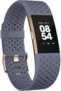 Fitbit Charge 2 Rose Gold Sports Band Bluegrey Small