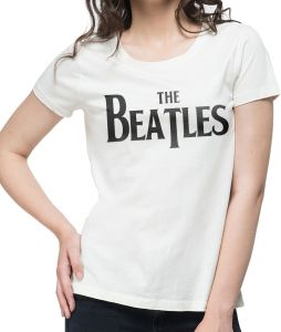134464db357ea NUTSPIN The Beatles Graphic Printed T-Shirt for Women - White
