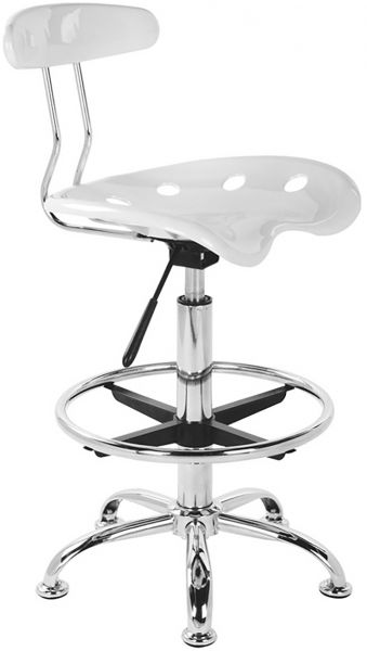 white rolling chair. Vogue Rolling Chair - White (BN-3029-2) I