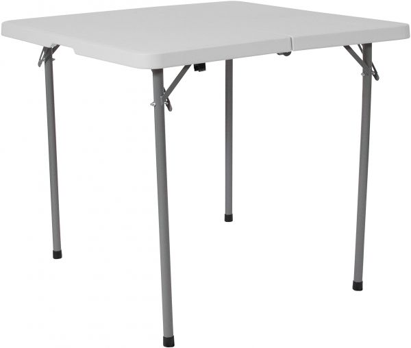 Flash Furniture 34u0027u0027 Square Bi Fold Granite White Plastic Folding Table  With Carrying Handle, Price, Review And Buy In Dubai, Abu Dhabi And Rest Of  United ...