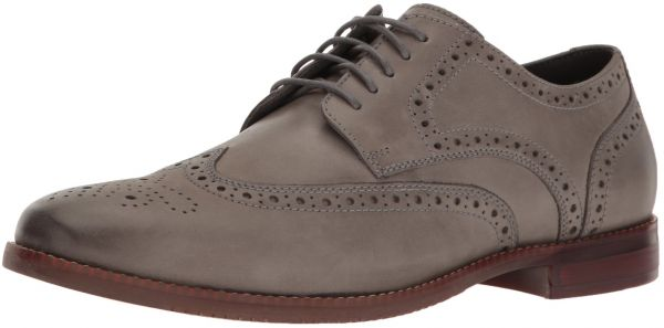 Rockport Men's SP Wing Tip Oxford, Grey Leather, 10.5 M US