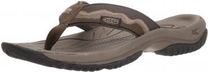 KEEN Mens Kona Flip-M Flat Sandal Dark Olive/Antique Bronze 10.5 M US