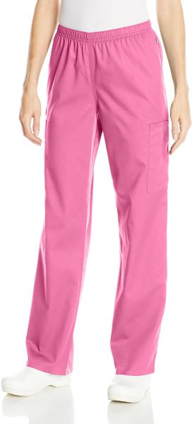 b12154f731d Cherokee Women's WW Flex Mid-Rise Straight Leg Elastic Waist Scrub Pant,  Shocking Pink, X-Large Tall. by Cherokee, Uniform - 104 ratings