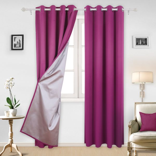 Deconovo Grommet Curtains Thermal Insulated Blackout Curtains With