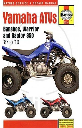 yamaha atvs banshee warrior and raptor 350 87 to 10 haynes rh uae souq com 2001 yamaha warrior 350 owners manual 2001 yamaha warrior 350 owners manual