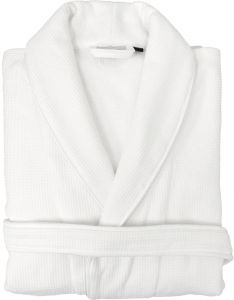 Linum Home Textiles 100% Turkish Cotton Waffle Terry Bathrobe with Satin  Piped Trim 2c7423457