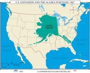 Sale on maps us map chart 17x22 buy maps us map chart 17x22 online us expansion alaska purchase us history wall maps gumiabroncs Image collections