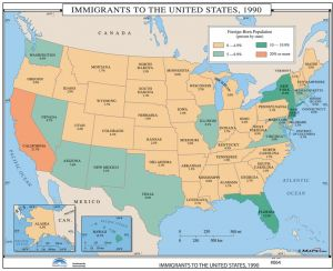 Sale on maps us map chart 17x22 buy maps us map chart 17x22 online immigration to the us us history wall maps gumiabroncs Image collections