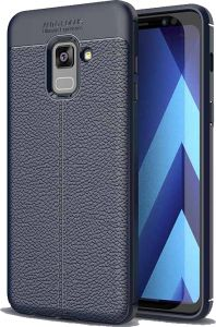 Samsung Galaxy A8 Plus 2018 case Soft TPU Shockproof cover - Navy