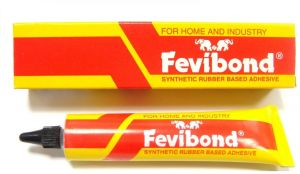 Fevibond Synthetic Rubber Base Glue Adhesive Canvas Cork Rexine Leather Shoe  Sole Glue 50ml