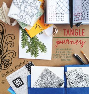 Tangle Journey Exploring The Far Reaches Of Drawing From Simple Strokes To Color And Mixed Media