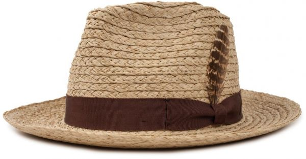 9006c6cf28d488 Brixton Men's Crosby Medium Brim Straw Fedora Hat, Tan, XS | KSA | Souq