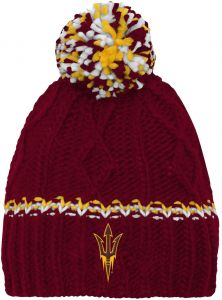 5bc3a6372afa7 NCAA by Outerstuff NCAA Missouri Tigers Youth Girls Cable Knit Cuffless Hat  w  Pom
