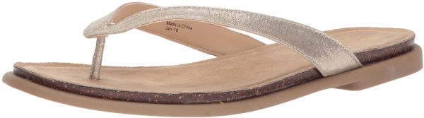 Kenneth Cole Reaction Women S Jel Ing Flat Sandal With Comfort Footbed Flip Flop Soft Gold 7 5 M Us