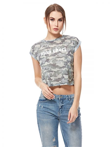 0aebf023e14 New Look Crop Top for Women - Camouflage Green | Souq - UAE