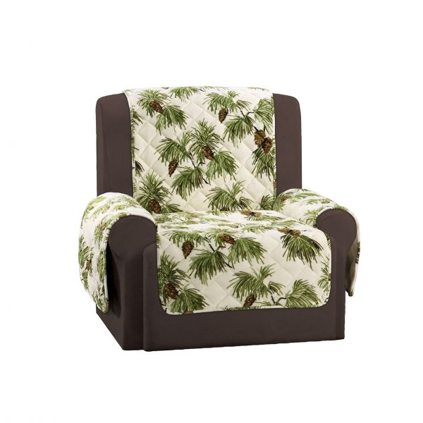 Sure Fit Lodge   Chair Slipcover   Pinecone Ivory Chair SF45642