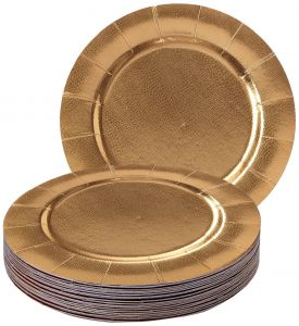 Round Disposable Chargers Heavyweight Paper Plates Metallic Gold Finish- Disposable Round Chargers - Perfect for Formal Dinners Parties and Events (Set of ...  sc 1 st  Souq.com & Sale on better ssq dinner plate Buy better ssq dinner plate Online ...