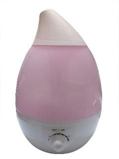 Ultrasonic electric steam. with night lighting 220volt pink color 2.2liter