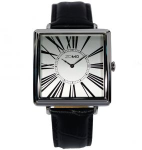 f50463b6089 ZOMO Adore Mens Designer Watch- Swiss Quartz Dress Watch for Men - Square Stainless  Steel Classic Watch with black leather Strap
