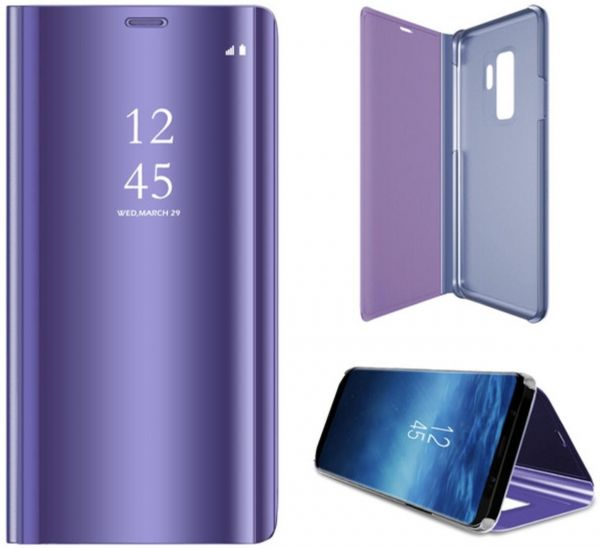 official photos 65bba cecc2 Samsung Galaxy S9+ Plus Clear View Mirror Case Cover Flip Stand Purple