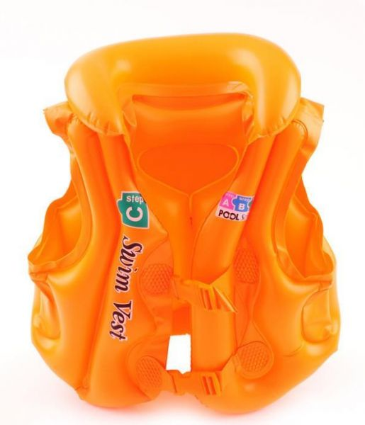 Baby Swimwear Suit PVC Inflatable Swimming Safety Vest Equipment (L)