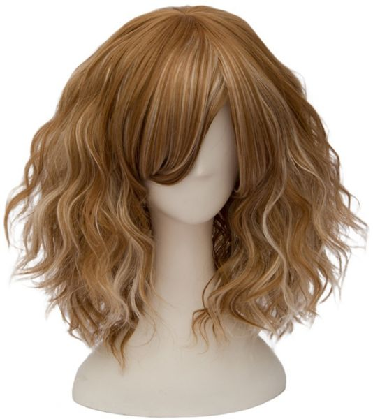 TOPMAX Fashion Mixed Blonde Short Wavy Lolita Women s Cosplay Wig ... 84cf576b8