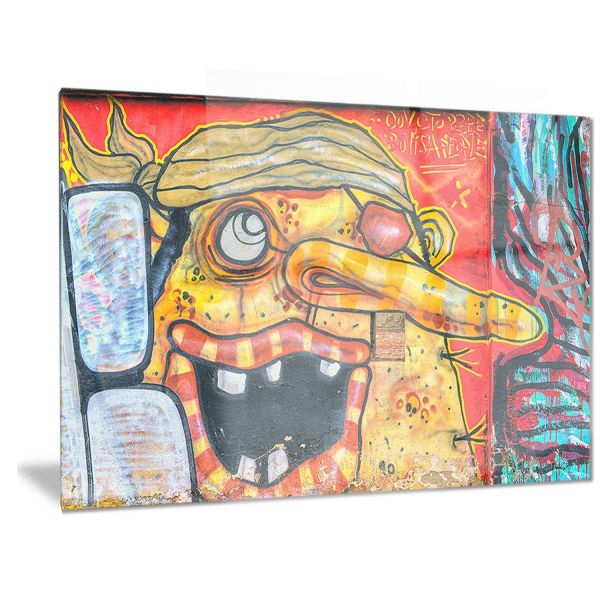 Souq | Designart Funny Street Art Graffiti Metal Wall Art - MT6981 ...
