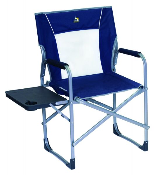 GCI Outdoor Slim Fold Directoru0027s Camp Chair With Side Table