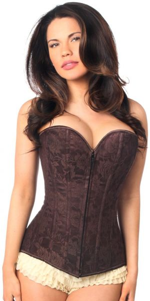 452b962c76b Daisy Corsets Women s Plus Size Lavish Lace Overbust Corset with Zipper