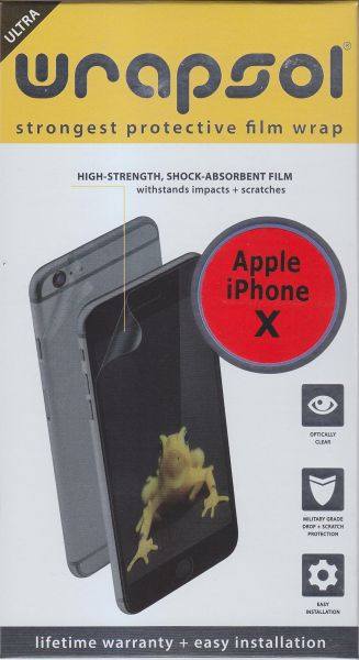 Ultra Wrapsol strongest protective for iphone X