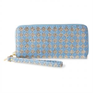 b43ec05b5f4c Forever Young Zip Around Wallet for Women - Blue