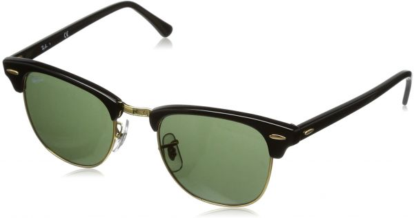 Buy Ray-Ban CLUBMASTER - SAND HAVANA/GOLD Frame GREY MIRROR BLUE ...