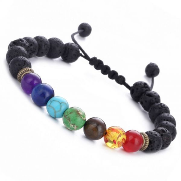 dp bracelet beads yoga volcano rock lava chakras casoty healing set bracelets amazon com stone of natural