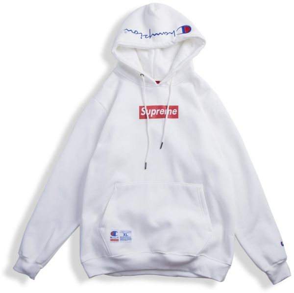 d36762e4ec6d Supreme X Champion Box Logo Hoodie for Unisex