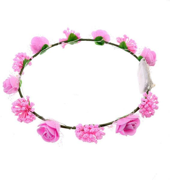 Handmade Floral Crown Led Flower Headband Hair Garland For Wedding
