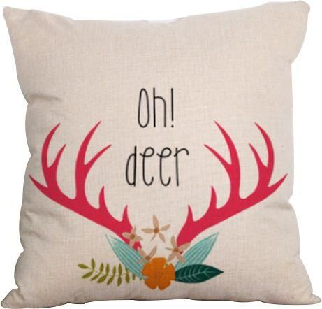 Printed Pillow Case Square Pillowslip Back Decorative Pillowcases Cover