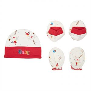 57de2d94b42 Night Angel Baby Hats   Caps Red - NA-73301