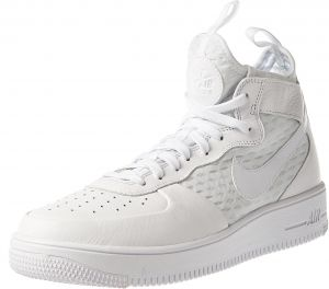 Nike Hombres Air Force 1 Ultraforce Mid Hombres Nike Zapato BlancoBlanco 864014 100 f65750