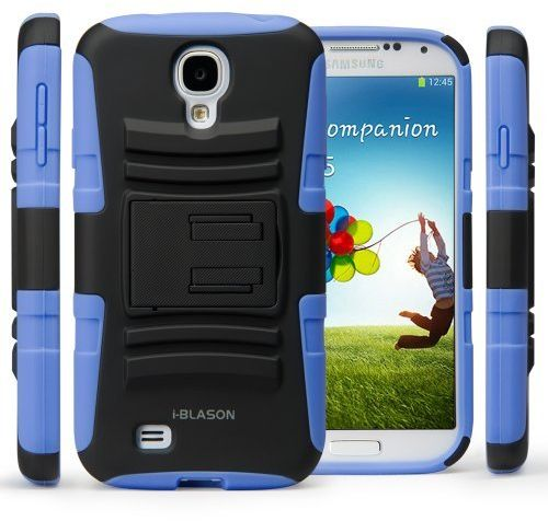 Galaxy S4 Case, i-Blason Prime Series Dual Layer Holster Case Kick Stand Compatible with Samsung Galaxy S4 SIV S IV i9500 with Locking Belt Swivel Clip for ...