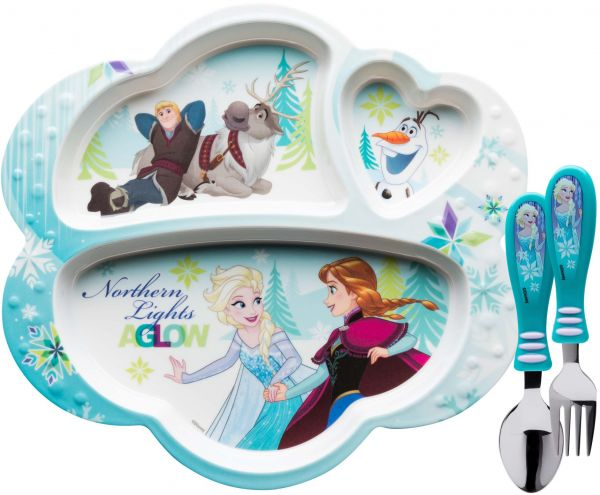 Zak Designs Frozen Divided Plate Fork and Spoon Set Disney Frozen 2 piece set  sc 1 st  Souq.com & Souq | Zak Designs Frozen Divided Plate Fork and Spoon Set Disney ...