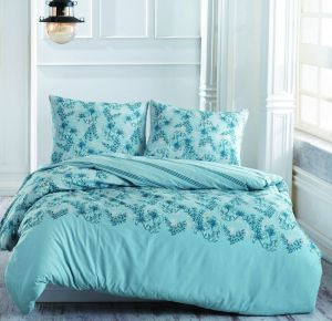 Marie Claire Blue Twin Size 160 x 220 cm Marina Quilt Cover Set - 5 Pieces