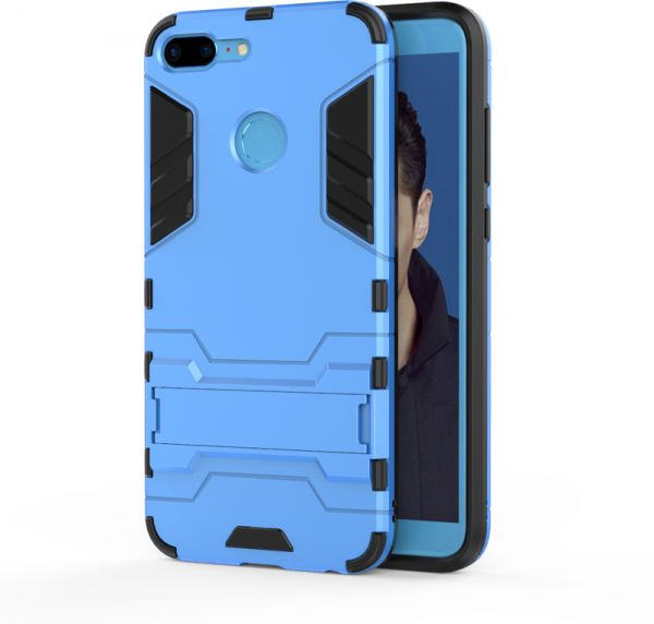 newest 9f538 bc9c6 Huawei Honor 9 Lite -Hard Shockproof Hybrid Armor Stand Phone Case Cover  Blue