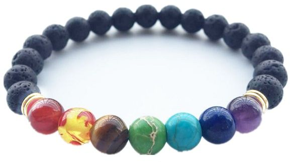 hot colorful volcano bracelet handmade natural item black bracelets for stone selling with beads lava emperor male