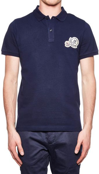 Moncler Pique Polo T-Shirt for Men - Blue   KSA   Souq 7e9c847a65b