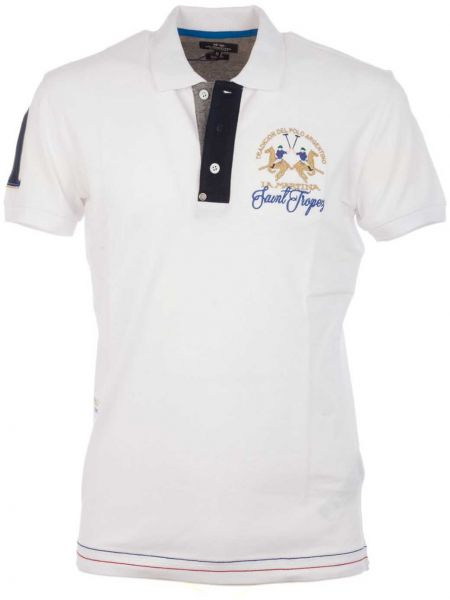 0ec7c380 La Martina Polo T-Shirt for Men - White | Souq - Egypt